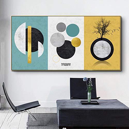 YQLKC Pintura de Arte Minimalista Impresiones de Carteles Pintura de Lienzo Imágenes artísticas de Pared para la Sala de Estar Decoración del hogar 23.6'x43.3 (60x110cm) Sin Marco