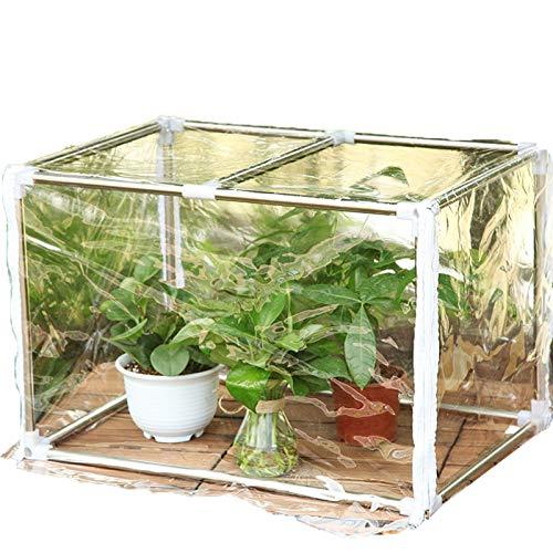 Bache Pour Serre,Miniature Les Plantes Couverture Isolante Antigel Avec Fermeture Éclair Coupe-vent Portable Serre De Balcon, 9 Tailles (Color : Clair, Size : 60x30x30cm)