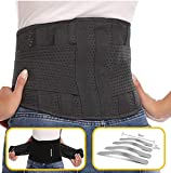 Abahub Breathable Lumbar Support Belt for Men & Women, Helps Lower Back Pain Relief with Slipped Discs or Degenerative Disc Disease, Black XL