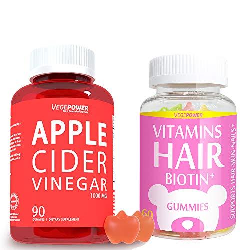 Vegepower Hair Vitamin Gummies, Apple Cider Vinegar Gummies