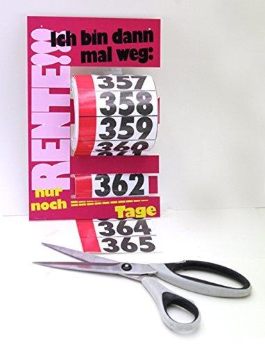 Tupf'n - Rentenkalender 365 Tage bis zur Rente, Abschneidkalender Abreißkalender Sticker