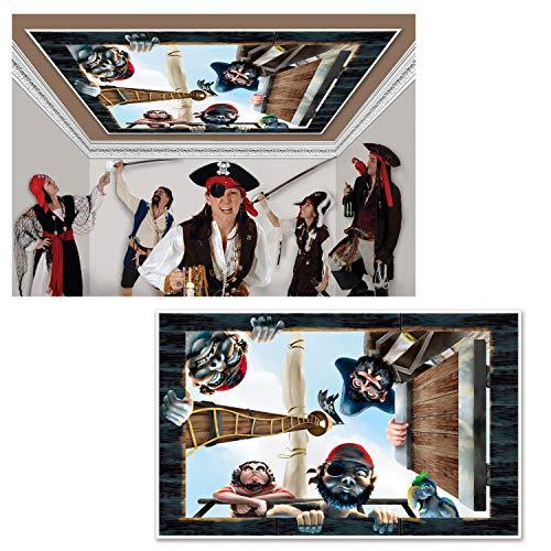 Generique - Décoration murale bateau de pirate