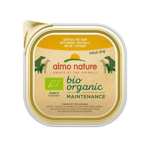 Almo Nature Bio Organic Maintenance con Pollo -Cibo Umido per Cani Adulti - Pacco da 9 x 300 g