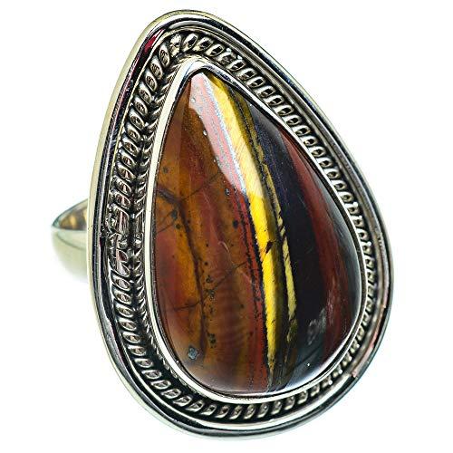Ana Silver Co Butterfly Jasper Ring Size K 1/2 (925 Sterling Silver)