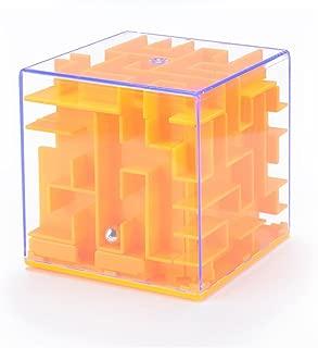 3D Three-Dimensional Maze Piggy Bank Puzzle Early Education Mazy Money Box Toy (Orange)