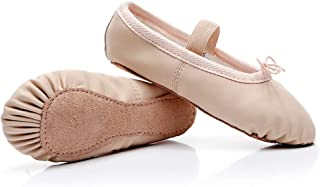 DubeeBaby Girls Leather Ballet Shoes Slippers,Split Sole Flats Toddlers