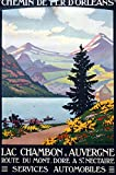 Poster Lac Chambon Auvergne Kunstdruck, 50 x 70 cm, Papier,
