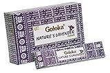 GOLOKA Nature's Lavender Incense Incienso de Lavanda (Pack de 12cajas x 15gms)