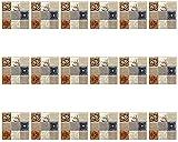 Kytpyi azulejos de mosaico autoadhesivo, azulejos pegatina azulejos adhesivos de pared pegatinas para azulejos de pared azulejos autoadhesivos pegatinas de azulejos para baño ( A )