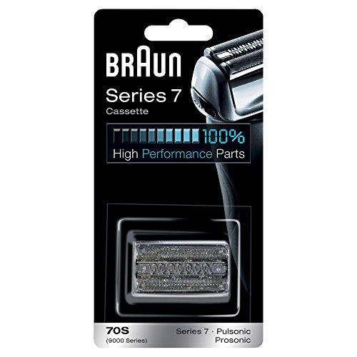 Testina di Ricambio Rasoio da Barba Elettrico Braun 70S Color Argento, Compatibile con i Rasoi Series 7, per una Rasatura Ottima ogni Giorno