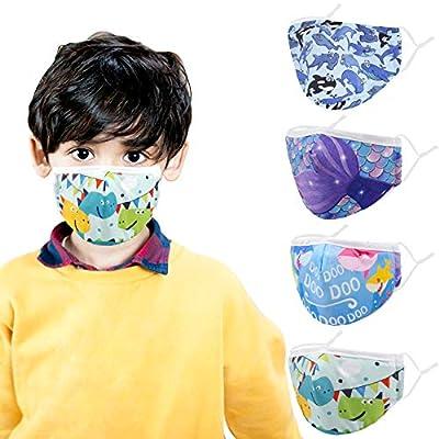 Amazon - Save 40%: Jamal Kids Face Mask, 4 Pcs Fashion Comfortable Protective Masks – Adjust…
