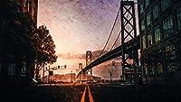 数字で描くキットDIY油絵キャンバスカラートーク大人のための家の壁の装飾初心者-道路標示橋40×50cm(フレームレス)