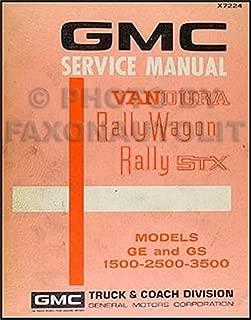 1972 GMC Vandura, Rally Wagon & STX Repair Shop Manual GE GS 1500-2500-3500