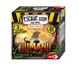 Noris - Juego por Equipos y familias Escape Room Jumanji (Family Edition) para Adultos y niños, Incluye 3 Casos y descodificador de cronógrafo, a Partir de 10 años