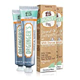 Dr. Ginger's Coconut Oil Toothpaste with White Activated Charcoal, 4 oz, 2 Count - Coconut Mint Flavor