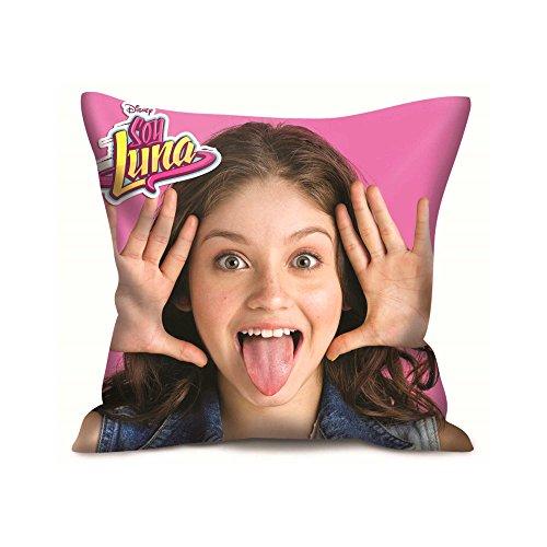 BETA SERVICE – Soy Luna, cuscino 2 motivi, mobili per bambini, Colore: rosa., 35 x 35 cm