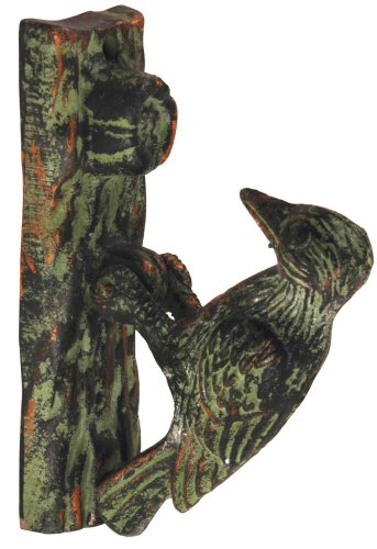 Esschert Design Door Knocker - Woodpecker Green Patina