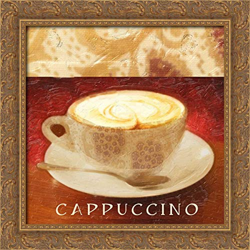 Greene, Taylor 20x20 Gold Ornate Framed Canvas Art Print Titled: Cappuccino