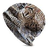 CUKENG for Teacher Ocelot Ocelot Skull Cap Stretchy Beanie Hat Baggy Caps Winter Knit Fashion Hats for Women Men
