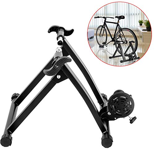 WOGQX Bike Trainer Stand, Fluid Bike Trainer Stand 330LBS Indoor Bicycle Trainer 750W Flowing Resistance Indoor Bike Trainer Exercise Stand
