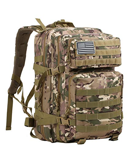 Supersun Military Tactical Backpack Molle Bag 45 Liter Large Bag Rucksack