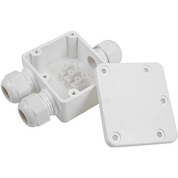 Sourcingmap - Caja de conexiones eléctrica impermeable IP68 para exteriores, 3 vías, PG9, 110 x 72 x 36 mm, con regleta de terminales: Amazon.es: Bricolaje y herramientas