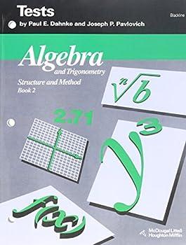 Algebra and Trigonometry  Structure and Method Vol 2   Tests  Blackline