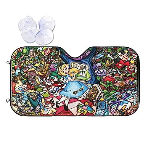 Alice In Wonderland - Parasol para parabrisas de coche, diseño floral
