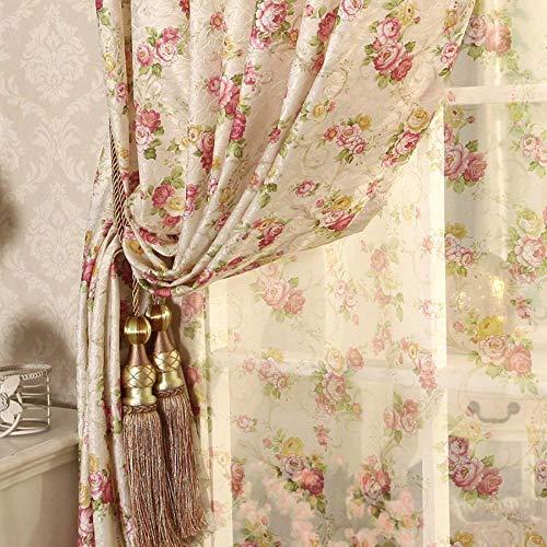 PENVEAT Recomendadas nuevas cortinas de flores para sala de estar, dormitorio, jardín coreano, sala de matrimonio en niña pequeña, cortina, 200 x 250 cm