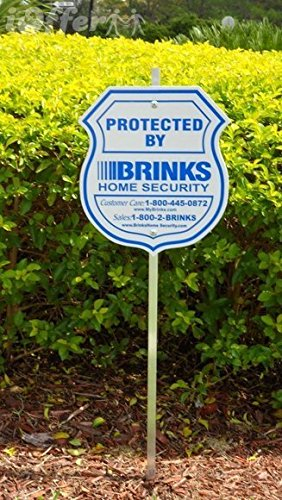 Home Alarm Yard Security Reflective Sign with Post and Window Decal Stickers