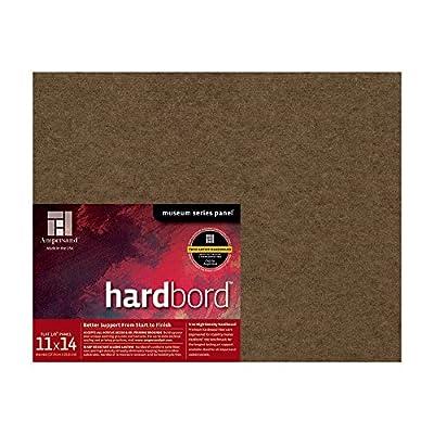 Ampersand Art Supply Hardboard Wood Painting Panel: Museum Series Hardbord, Brown
