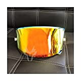 Burning Lente de Visera de Casco de Motocicleta, Motorcycle Full Face Helmet Visor Lens Funda para SH-oei X14 X-14 Z7 CWR-1 NXR RF-1200 X-Spirit 3 Mascarilla de Visor (Color : Orange)