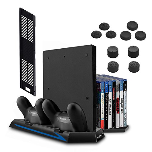 All-in-One Stand for PS4 / PS4 Slim / PS4 Pro - innoAura Vertical...