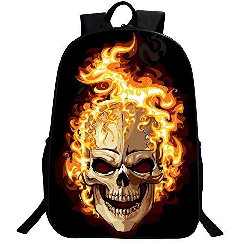 Mochila bolsas, GIM moda mochila de viaje Camping Casual mochila impresión de calavera mochila escolar mochila Back Pack, rojo