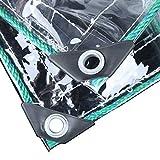 GRW GUOTarpaulin& PVC Transparente a Prueba de Agua Sheet Covers Camping Lona Tierra, Heavy Duty Cubierta Impermeable Lona Planta de 0,5 mm de Grosor 500g / ㎡ (Size : 2X2m)