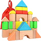 Large Wooden Building Blocks Set -...