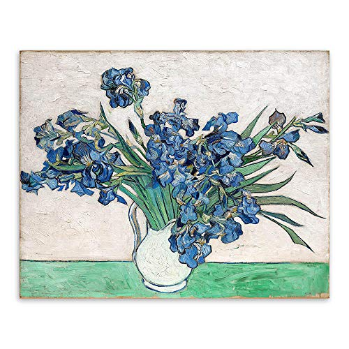 YIBINGLI Pintar por números Pintar por Kits de números Flores Azules Florero Floral Original Lienzo Pinturas al óleo Dormitorio Arte de la Pared Decoración Regalos 40x50cm con Marco