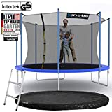 Kinetic Sports Outdoor Gartentrampolin Ø 360 cm, TPLS12, inklusive Sprungtuch aus USA PP-Mesh...