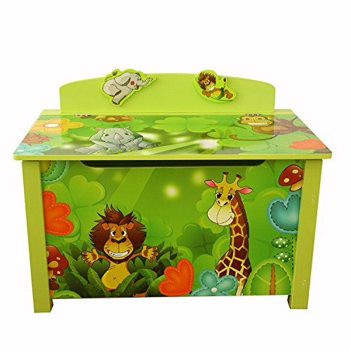 Homestyle4u Spielzeugtruhe Dschungel grün - 2