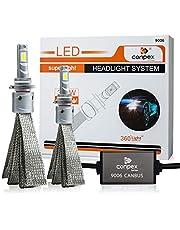 360 درجة ضوء 9006 LED مجموعة تحويل المصابيح الأمامية المضادة للوميض مع شعاع عالي/لو، 10000LM، 600K زينون أبيض بارد مع ضمان لمدة عامين