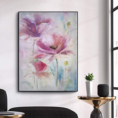 wtnhz Kein Rahmen schürze für Erwachsene Wasserfall von Wand Blume Leinwand Ölbilder für Wohnzimmer Wandkunst 40x60cm