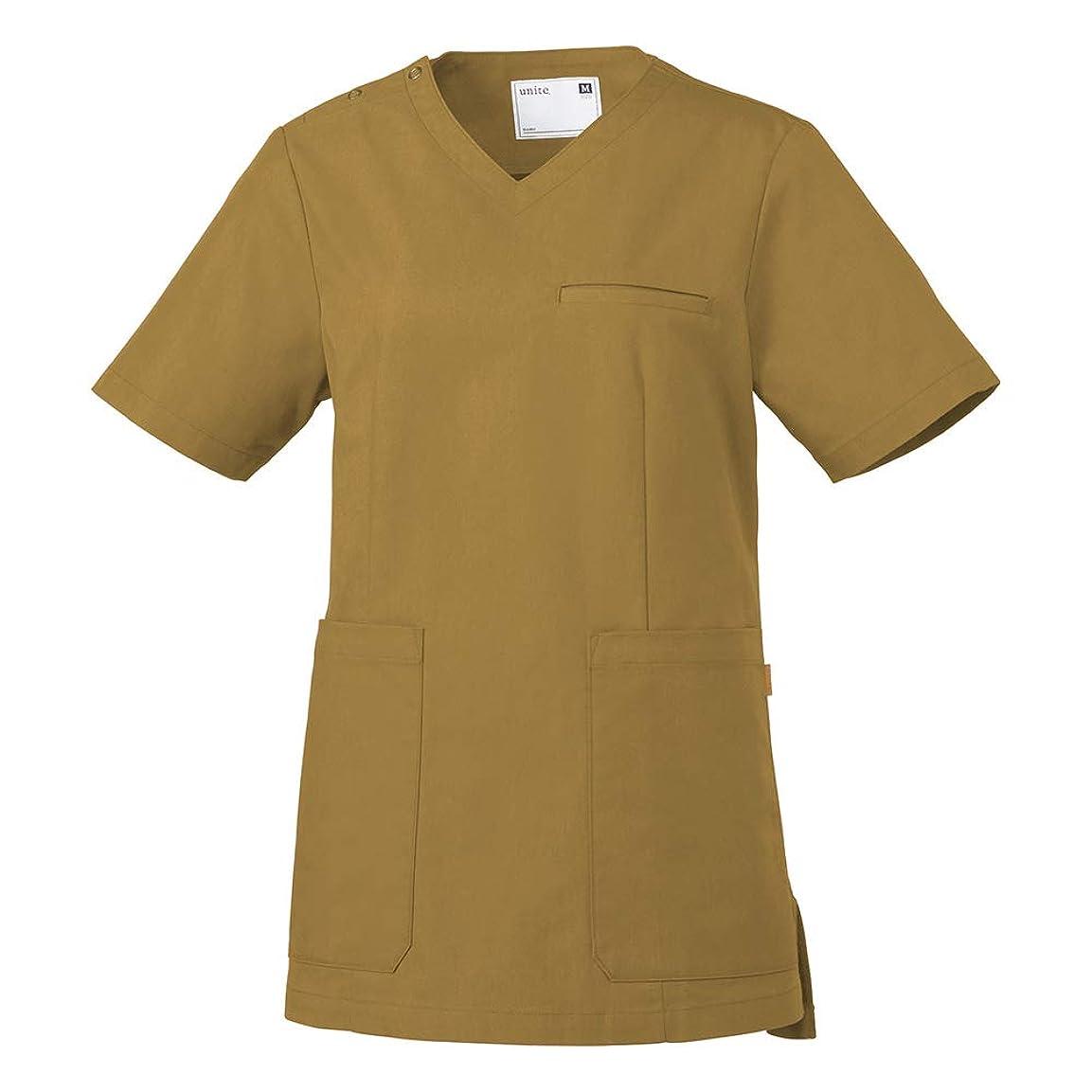 着替える構想する学習unite スクラブ 女性用 UN-0070 シナモンベージュ 医療用ユニフォーム