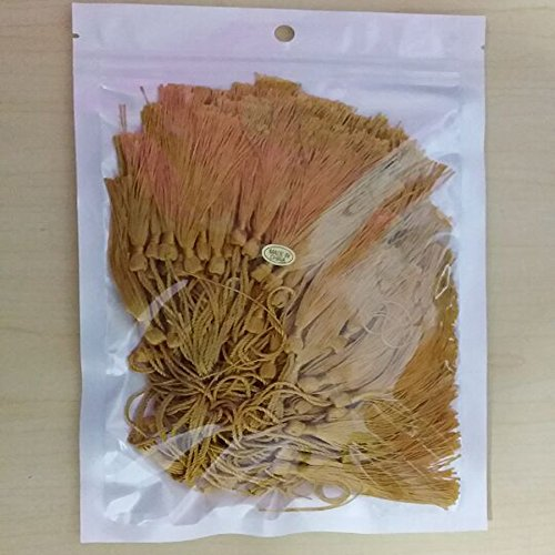 Creanoso Bookmark Tassels Gold (100-Pack)- for Bookmarks, Jewelry Making, Souvenir, Party Favors, Art and Craft Project - with Anti-Wrinkled Treatment to Straighten Them