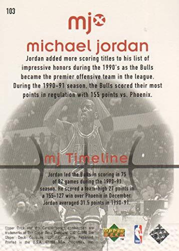 1998 Upper Deck MJx Basketball #103 Michael Jordan/Timeline 2nd Half