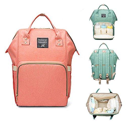 Borsa fasciatoio da viaggio organizer borsa a secchiello per pannolini, zaino grande capacità impermeabile multi-funzione