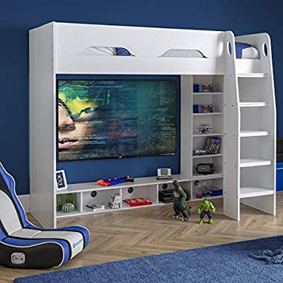 Wooden Gaming Bed, Happy Beds Galaxy Wooden Gaming High Sleeper Frame