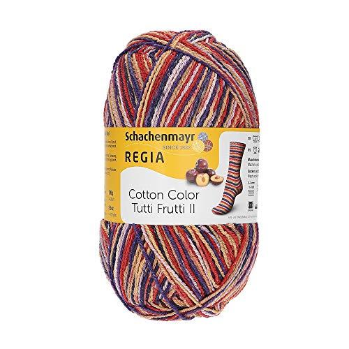 Schachenmayr REGIA 9801621-02427 Handstrickgarn, 100% Baumwolle, plum, onesize