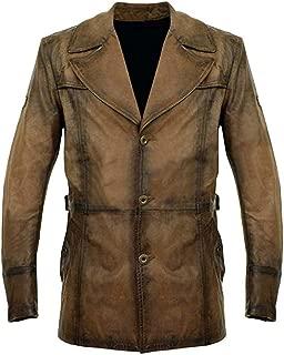 KAAZEE Mens Brown Vintage Style Genuine Leather Jacket