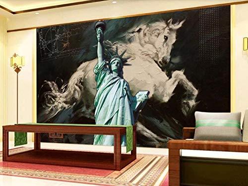 Fotomurales 3D Pintura Al Óleo Al Estilo Europeo Y Americano Liberty Steed Fotográfico Mural Papel Pintado Fotomurales Salón Dormitorio Decoración de Paredes Moderna Wallpaper 400cm×280cm