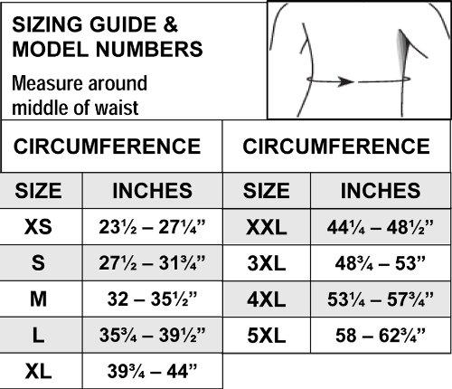 Thermoskin - Soporte lumbar con apoyo extra, extra grande 101cm - 112cm